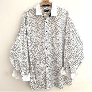 Sean John Floral Dress Shirt French Cuffs 19 34/35